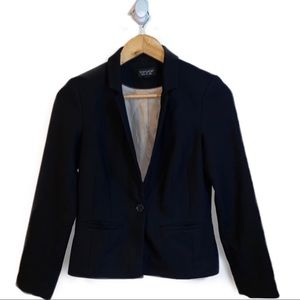 3/30$ TOPSHOP Simple Breasted Black Blazer, size 4